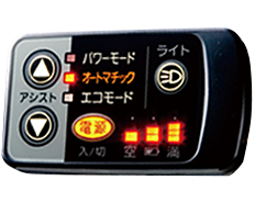 ポイント3:バックライト付手元スイッチ